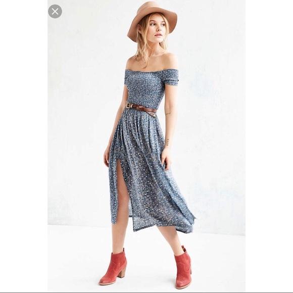 a166b79fa Kimchi Blue Off-the-Shoulder Smocked Picnic Dress.  M_5a8b5c37a4c485bc5e2097b6